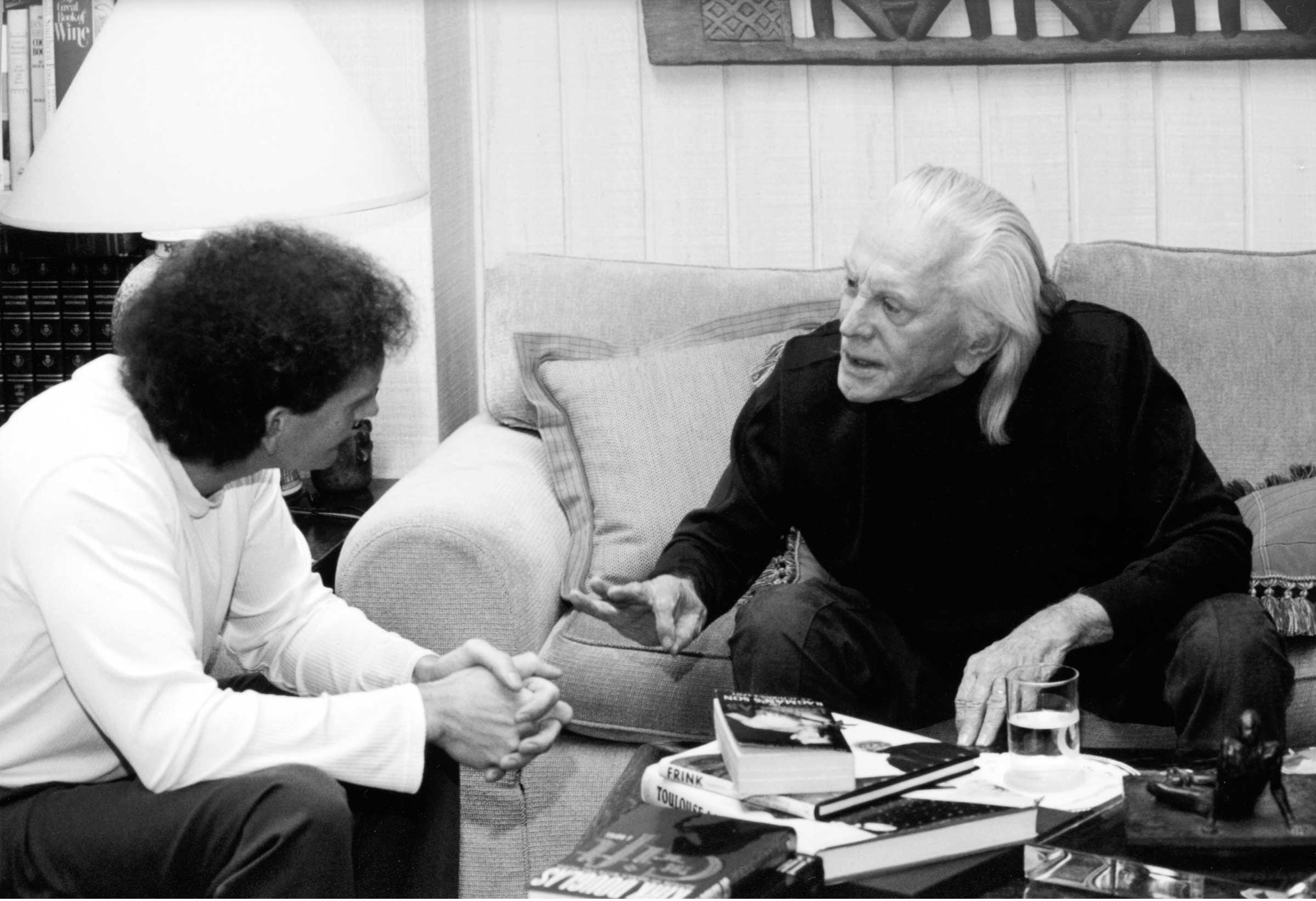 Chet Cooper and Kirk Douglas interview